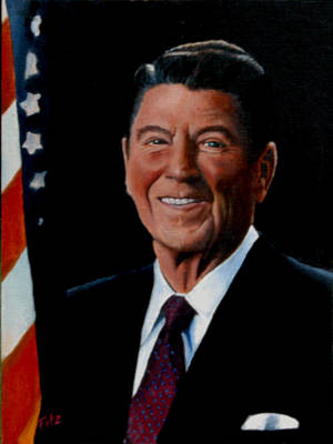 Painting - Ronald Reagan by Rick Fitzsimons