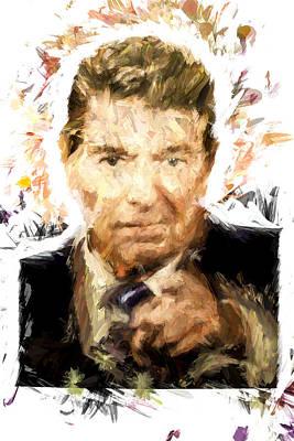 Ronald Reagan Art Print by Vivian Frerichs