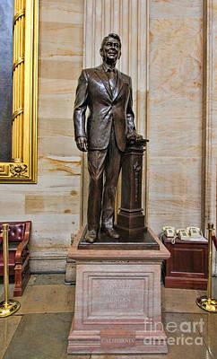 Ronald Regan -  U S Capitol Statuary Hall Art Print by Allen Beatty