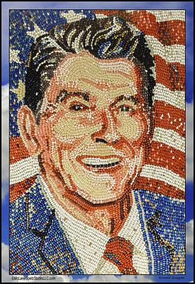 Photograph - Ronald Wilson Reagan Mosaic by LeeAnn McLaneGoetz McLaneGoetzStudioLLCcom