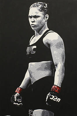 Painting - Ronda Rousey by Geo Thomson