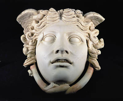 Gorgon Photograph - Rondanini Medusa, Copy Of A 5th Century Bc Greek Marble Original, Roman Plaster by .