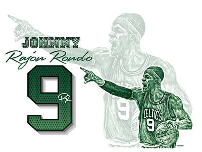 Rajon Drawing - Rondo by Richard W Cleveland