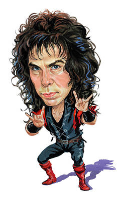 Comics Royalty-Free and Rights-Managed Images - Ronnie James Dio by Art