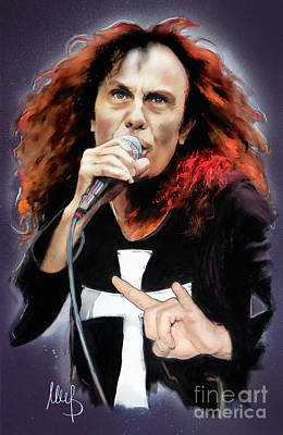 Heavens Mixed Media - Ronnie James Dio by Melanie D