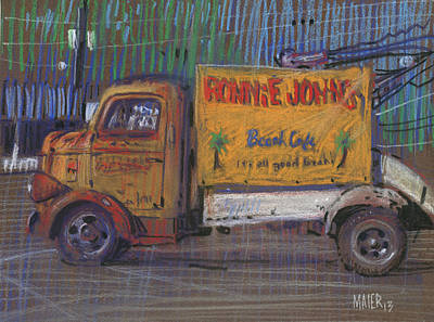 Ronnie John's Wrecker Sign Original by Donald Maier