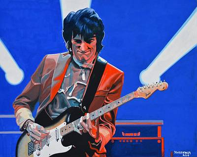 Ronnie Wood Painting - Ronnie Wood  Rolling Stone by John Houseman