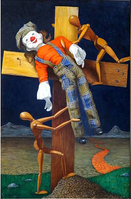 Manikins Painting - Demise Of The Clown by Lee Bianco