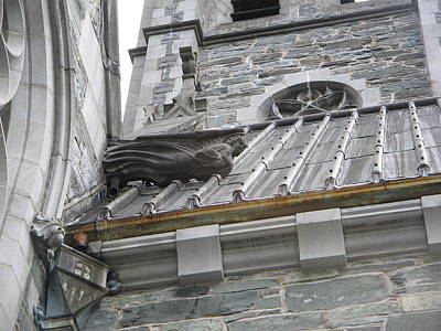 Photograph - Roof Artwork At Gothic Church by Denise Mazzocco