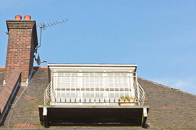 Living Life Photograph - Roof Balcony by Tom Gowanlock