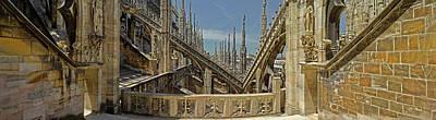 Roof Detail Of The Duomo Di Milano Art Print
