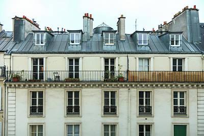 Roof Of Paris Art Print
