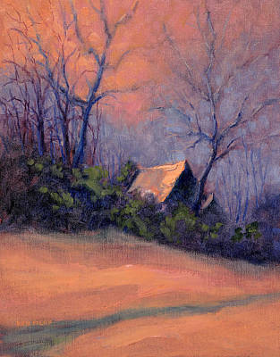 Painting - Roof Reflection At Dusk by Ken Fiery