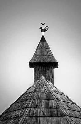 Roof Rooster Art Print by Ivan Slosar