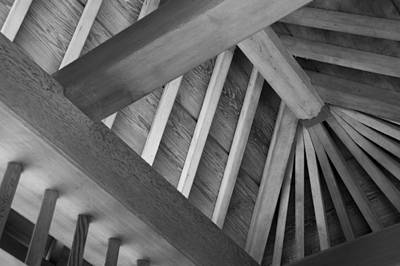 Photograph - Roof Structure by Larry Bohlin