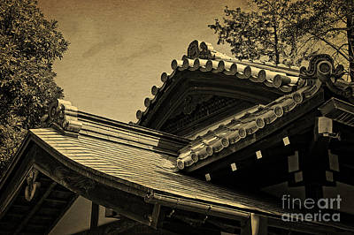 Photograph - Roof Tile Details Of A Buddhist Temple I by Beverly Claire Kaiya