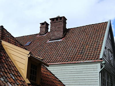 Western Art - Roof Tops 1 by Rick Rosenshein