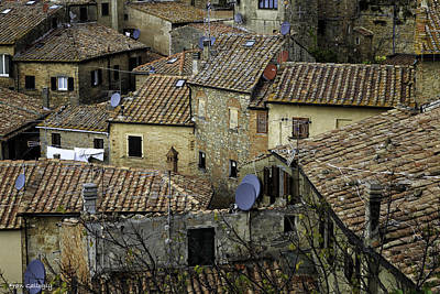 Photograph - Roof Tops Of Volterra by Fran Gallogly