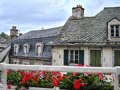 Roofs In The Cantal Auvergne France Art Print by Menega Sabidussi