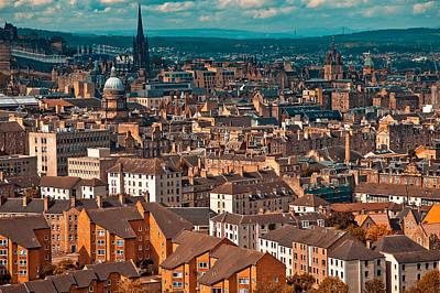 Photograph - Roofs Of Edinburgh. Scotland by Jenny Rainbow