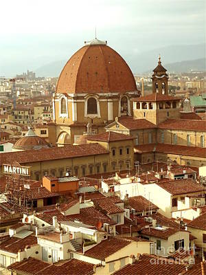 Anna Duyunova Art Photograph - Roofs Of Florence by Anna and  Sergey