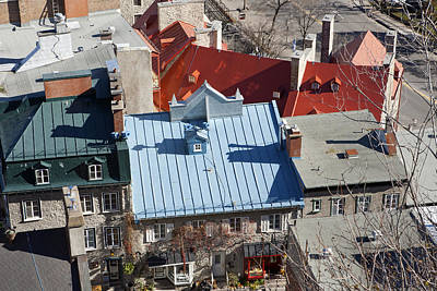 Photograph - Roofs Of Quebec by Gordon  Grimwade