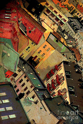 Photograph - Rooftop Abstract  Warm Textures by Carol Groenen