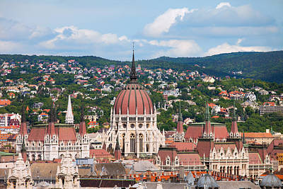 Rooftop Of Parliament Building In Budapest Art Print