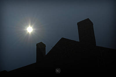 Rooftop Silhouette Art Print by Brian Archer