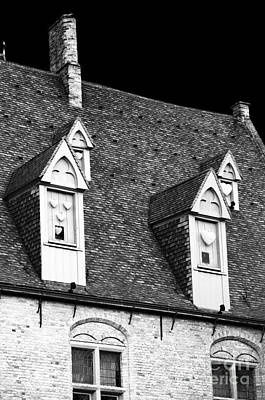 Rooftop View In Bruges Art Print by John Rizzuto