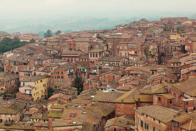 Italy Rooftops Photograph - Rooftop View Of Siena Italy by Kim Fearheiley