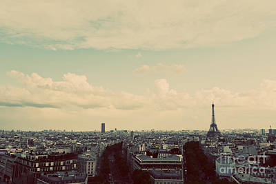 Paris Skyline Royalty-Free and Rights-Managed Images - Rooftop view on the Eiffel Tower in Paris France by Michal Bednarek
