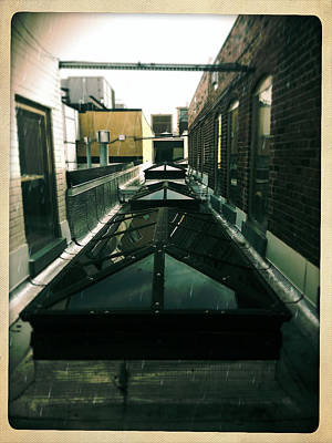Photograph - Rooftop Windows - Artists Attic - Lexington Ky by Paulette B Wright