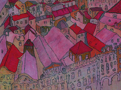 Painting - Rooftops II  by Oscar Penalber