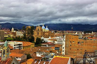 Immaculate Photograph - Rooftops In El Centro - Cuenca Ecuador by Al Bourassa