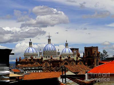 Rooftops Of Cuenca Print by Al Bourassa