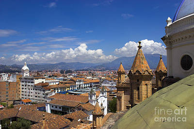 Immaculate Photograph - Rooftops Of Cuenca Ecuador West End by Al Bourassa