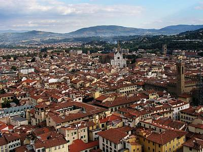 Rooftops Of Florence Art Print by David and Mandy