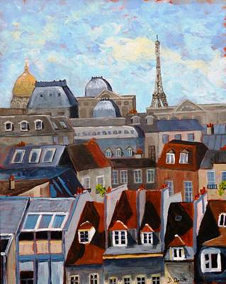 Painting - Rooftops Of Paris by Diane Arlitt