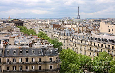 Paris Skyline Royalty-Free and Rights-Managed Images - Rooftops of Paris III by Heidi Hermes
