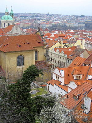 Photograph - Rooftops Of Prague by Suzanne Oesterling