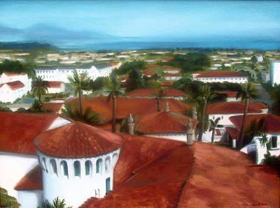 Rooftops Of Santa Barbara Art Print