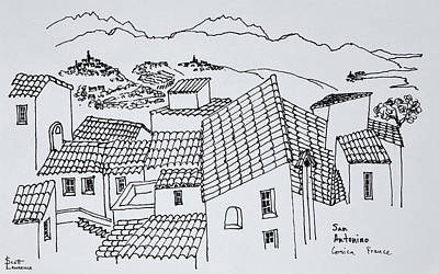 Rooftop Photograph - Rooftops Of Sant'antonino, Corsica by Richard Lawrence