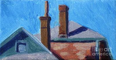 Rooftops On State Art Print by Katrina West