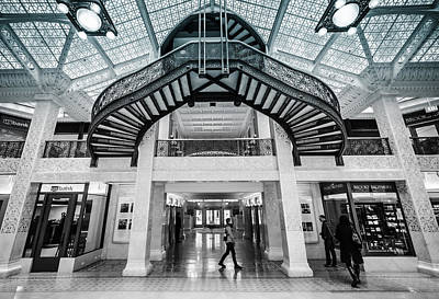 Photograph - Rookery Building Atrium Entrance by Anthony Doudt