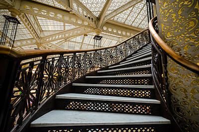 Photograph - Rookery Building Atrium Staircase by Anthony Doudt
