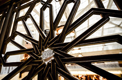 Photograph - Rookery Building Iron Design by Anthony Doudt