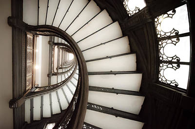 Photograph - Rookery Building Looking Up The Oriel Staircase by Anthony Doudt