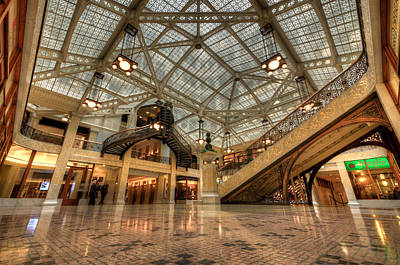 Photograph - Rookery Building Main Lobby And Atrium by Anthony Doudt