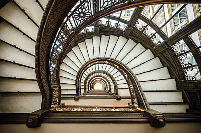Spiral Staircase Photograph - Rookery Building Oriel Staircase by Anthony Doudt
